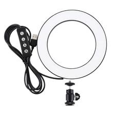 小売puluz 4.6インチusb 3モード調光対応写真撮影写真スタジオリングライトledビデオライト & コールドシュー三脚ボール