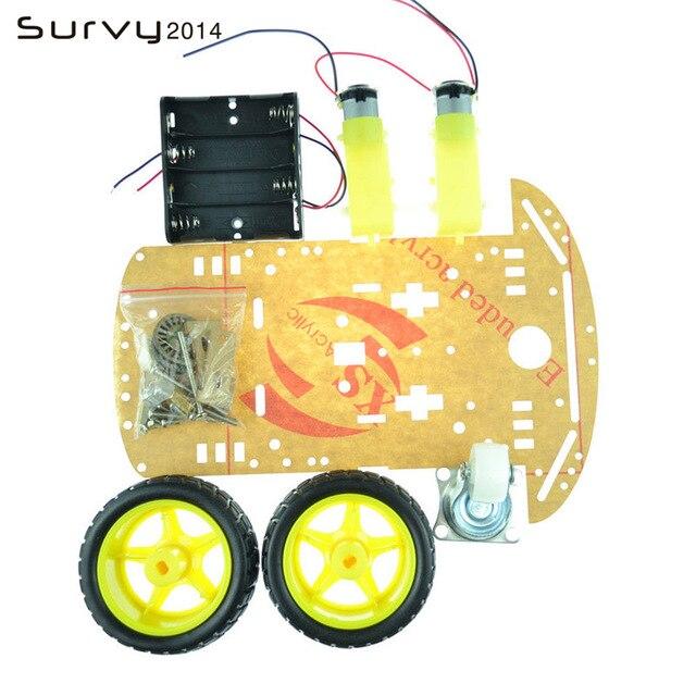 Фото умный робот автомобильный комплект шасси датчик скорости батарейный