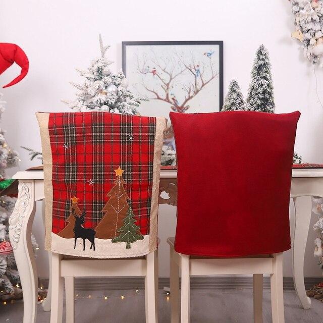 Фото 2 шт рождественские чехлы для стульев кухонные чехлы обеденных цена