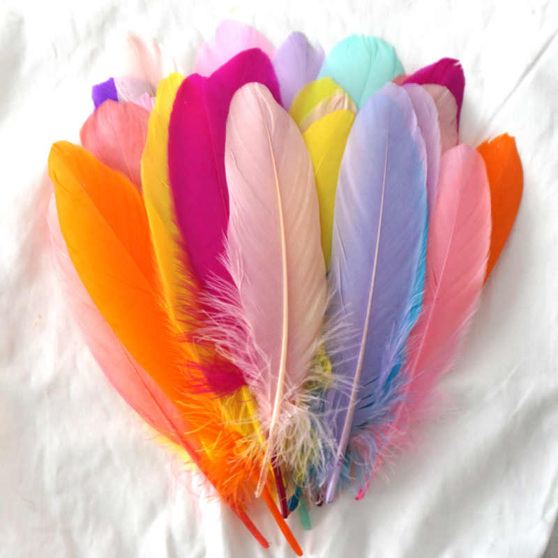 14-20cm/50pcs plumas Goose Plumes Fluffy Macaron mixed color Swan Feathers Making Beautiful Wedding Party craft Decor wholesale