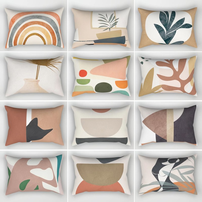 Rectangle Cushion Cover 30x50 Geometric Abstract Pillow Case Nordic Style Sofa Throw Pillow Covers Home Decorative