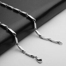 Мужская цепочка из нержавеющей стали 316, титановое ожерелье, застежка-лобстер, колье, Hombre Ketting Mannen, длинная цепочка, сделай сам, ювелирные изделия