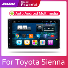 ZaiXi Android 2 Din Auto radio Multimedia Video Player auto Stereo GPS KARTE Für Toyota Sienna 2015 ~ 2019 Media Navi navigation