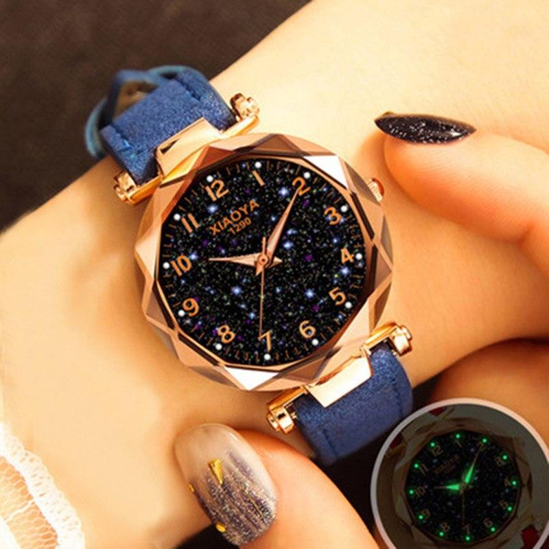 Women Watch Luxury Starry Sky Watches Female Clock Quartz Wristwatch Fashion Ladies Watches
