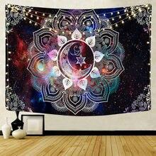 Tapeçaria de parede de suspensão de parede de mandala tapeçaria de decoração de casa tapeçarias de parede hippie psicodélico noite lua tapeçaria