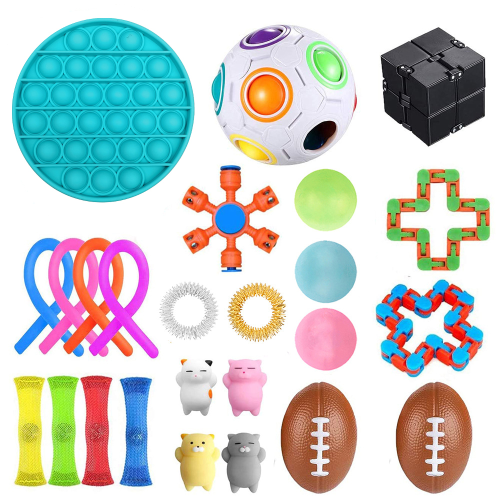 24 Pack Fidget Sensory Toy Set Stress Relief Toys Autism Anxiety Relief Stress Bubble img5