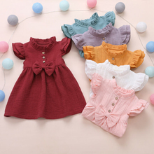 Girls Casual Dresses New Summer Fashion Kids Princess Costume Bow-knot Cute Outfits Children Clothing Baby Suit 1 5Y 2019 new christmas outfits babys outfits kids clothing santa clause suit long sleeve cute fashion toddle