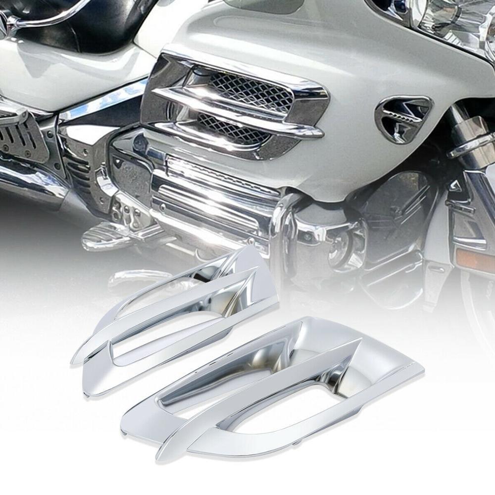 F6B 2006-2017 Chrome Front Speaker Trim Trim Cover Chrome for MOTO Decorative Parts for H-O-N-D-A Goldwing GL1800 Artudatech Motorcycle Front Speaker Trim Cover