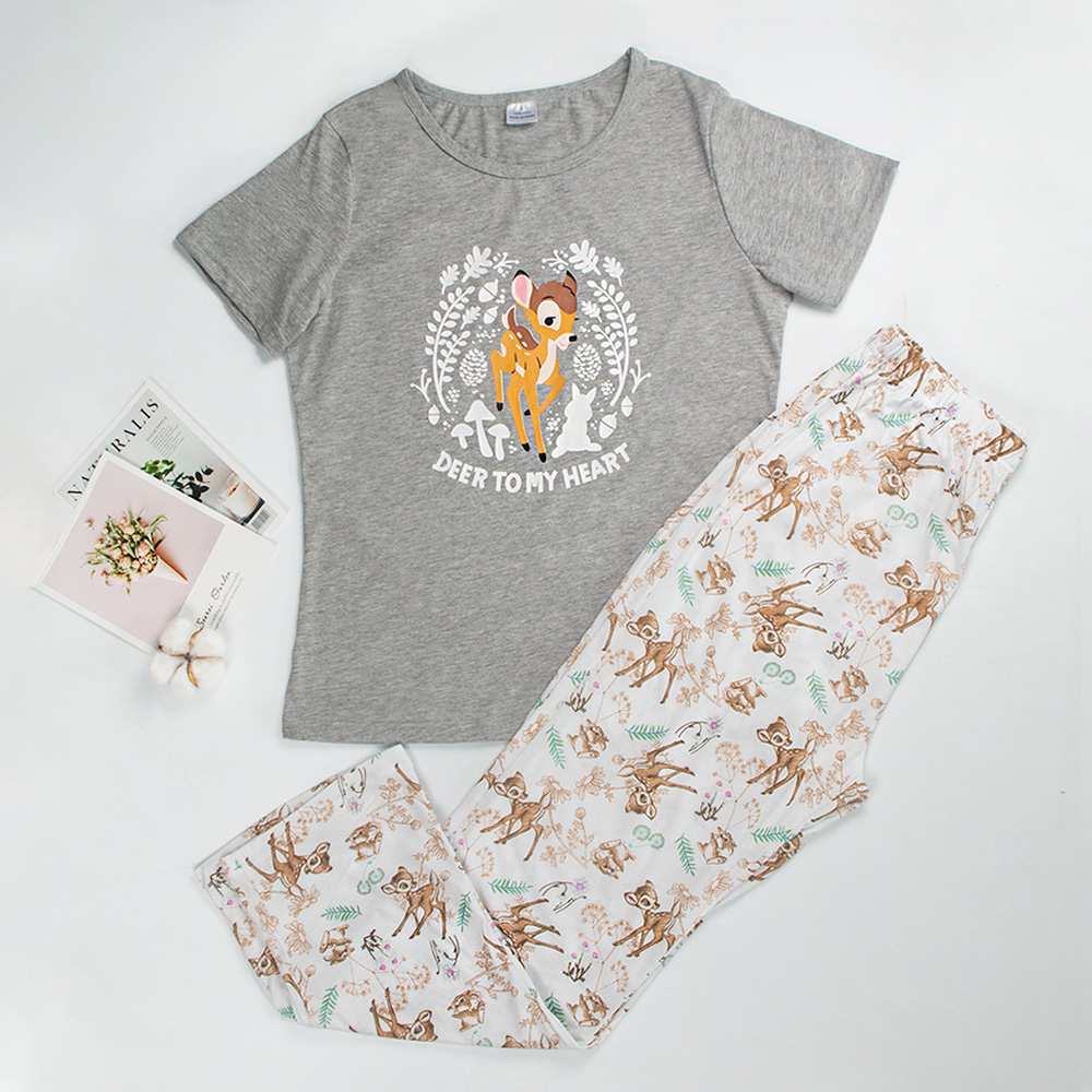 Womens Pajamas Sleepwear Cotton Pajamas For Women Short Sleeve Cute Pyjamas Women Cute Pajama Set Women Summer Pijama Mujer