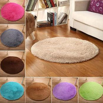 Home Decor Bath Bedroom Carpet Non-slip Living Room Children Kid Carpet Floor Shower Rug Yoga Plush Round Mat carpet Home Decor image