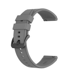 Image 4 - 22MM ספורט סיליקון בנד עבור LS05 רצועת רצועת השעון עבור Samsung גלקסי שעון 3 45mm  Huawei gt 2 פרו צמיד X6HA