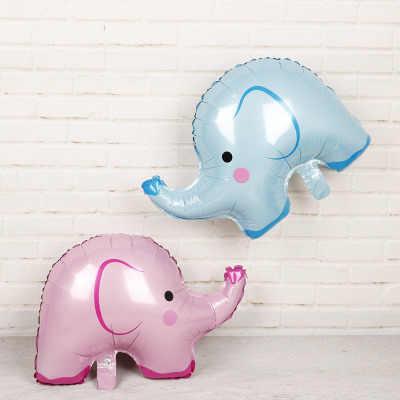 1 pieza 64x49cm bonitos globos de papel de elefante fiesta de cumpleaños de los niños de la selva juguetes inflables Baby Shower fiesta de cumpleaños favores de la decoración