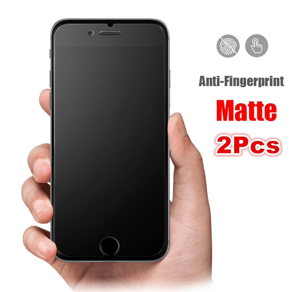 2Pcs/lot Frosted Matte Tempered Glass For iphone 6 6s 7 8 Plus 5 5s 5c SE Screen Protector Matte Glass on iPhone 11pro XS Max XR image