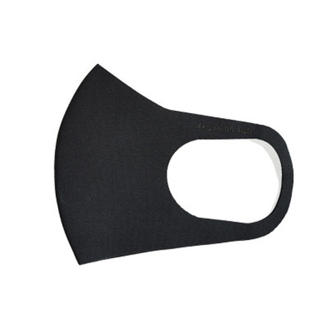 5PCS Black Kpop Mask Fashion Winter Warm Mask Breathable Washable Reusable Unisex Sponge Dust Mask 2