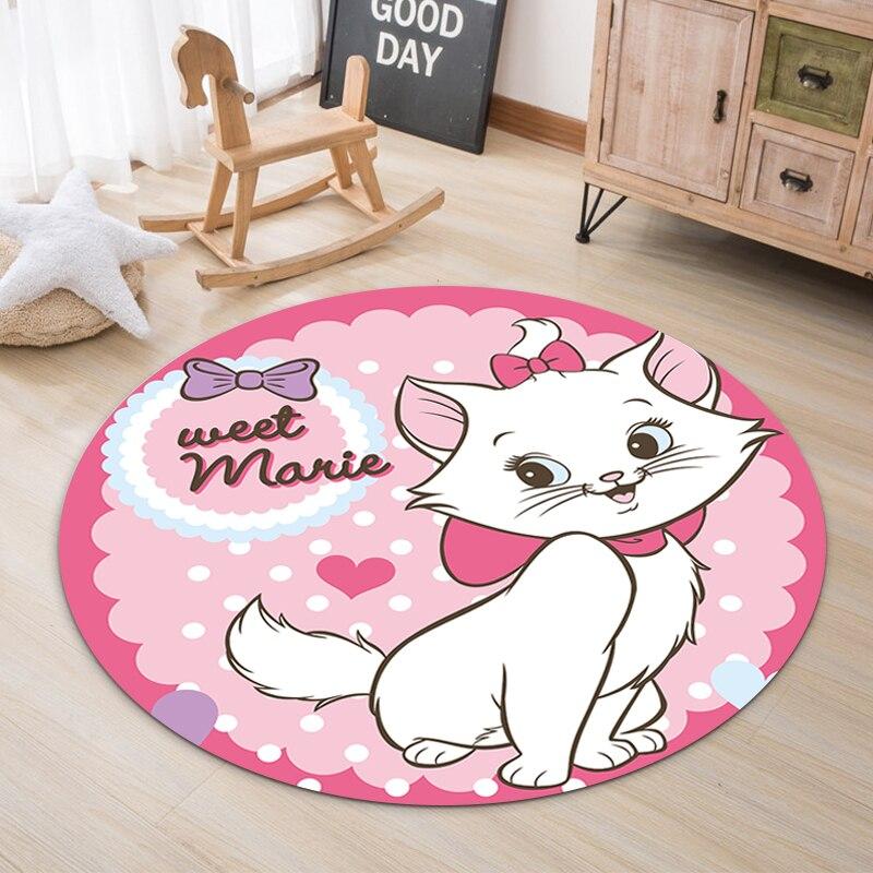 100x100cm Round Rugs Baby Play Mat  Mickey Mouse Nursery Rugs Large Polyester Anti-slip Cartoon Animal Baby Floor Mat Game Mat