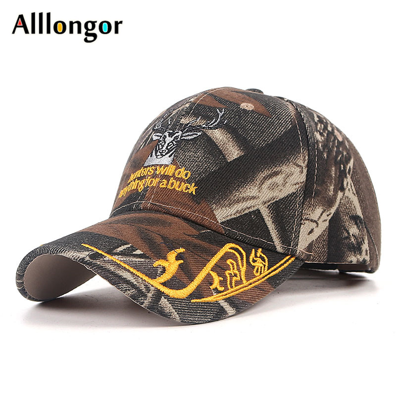 Camouflage Hip Hop Caps For Men Brand 2021 Summer Cap Male Cartoon Deer Gorro Hombre fitted baseball hats designer Trucker Hat