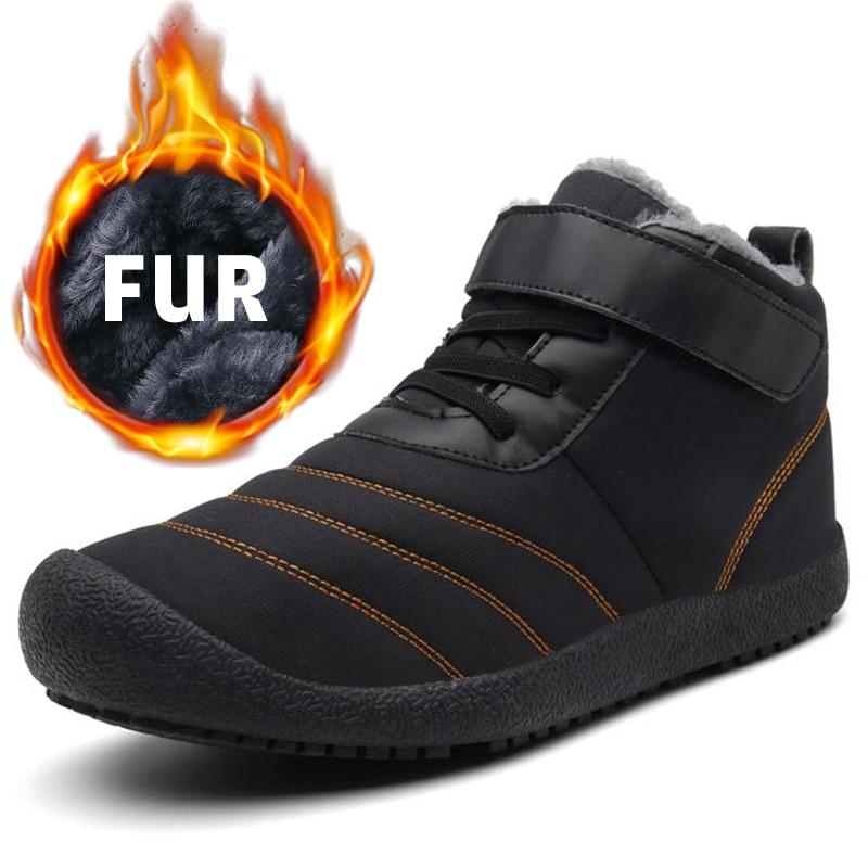 Men Boots Plus Size Winter Snow Boots Warm Plush Men Shoes Big Size Waterproof Ankle Botas Hombre Fur Unisex