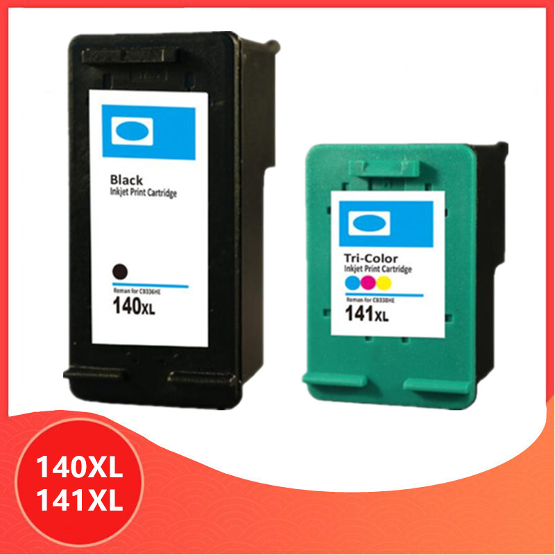 Replacement for <font><b>HP</b></font> 140XL 141XL ink cartridge for HP140 5363 D4263 6413 J5783 C4283 C4343 C5283 D5363 printer image
