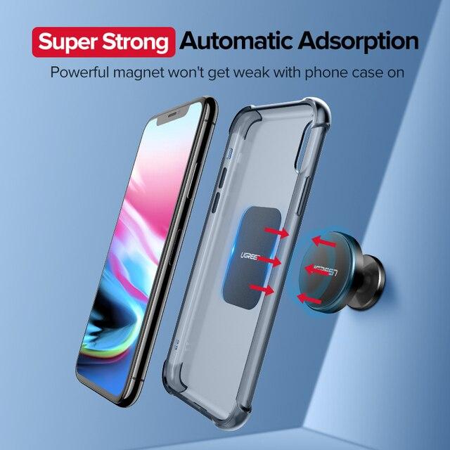 Ugreen Car Phone Holder Metal Plate Magnet Disk For iPhone x Magnetic Stand Support Smartphone Voiture Accessory Celular Holder 4