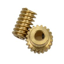 цена на 0.5 Modulus Small Reduction Ratio of 1:10 Motor Output Copper Worm Wheel Gear