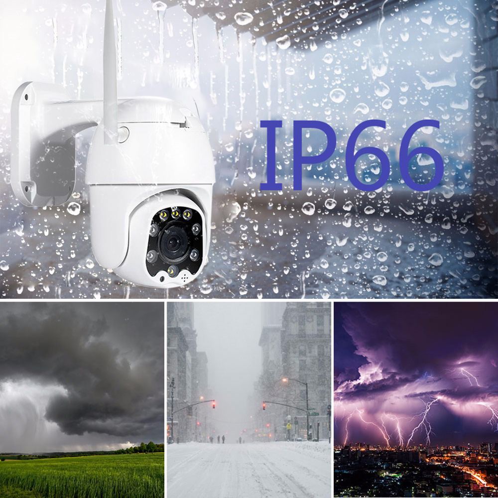 Image 3 - 2MP 3MP 5MP Wireless PTZ Speed Dome CCTV Security  IP Camera  4X zoom Outdoor ONVIF Two Way Audio P2P Camera WIFI Camhi-in Surveillance Cameras from Security & Protection