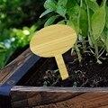 50 Pack Bambus Pflanze Etikett  oval Anlage Label Samen Topf Kraut Blume Mark Blume Gemüse (6X10 Cm)-in Pflanzenmarkierer aus Heim und Garten bei