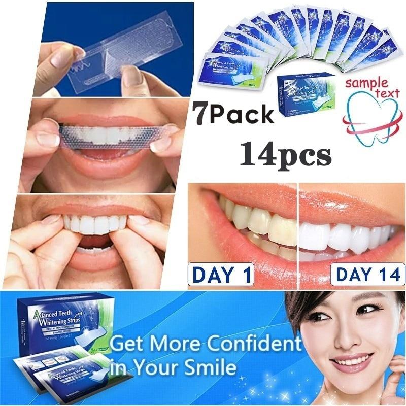 Teeth Whitening Strip For Teeth Stain Removal Dental Oral Hygiene Clean Kit Double Elastic StripTeeth Bleaching Tools