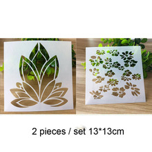 2pc Painting Template Stencils Reusable Airbrush Painting Art DIY Home Decor Scrap Booking Album Crafts Stencils Bullet Journal