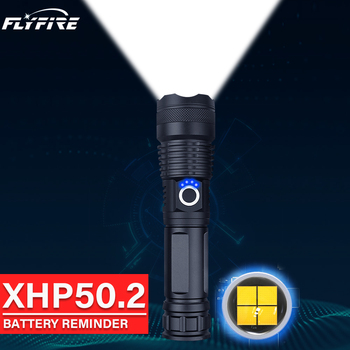 300000lm xhp50.2 powerful flashlight led torch High power led flashlights 18650 26650 usb rechargeable battery xhp50 flash light image