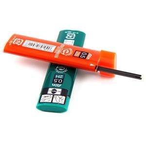 Image 5 - 7 أنابيب/مجموعة (40 قطعة/أنبوب) Pentel 0.5 مللي متر عبوات قلم رصاص ميكانيكية B,2B,3B,4B,H,2H, قلم رصاص HB يؤدي للمدرسة والمكتب القرطاسية