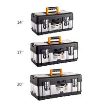 Organizer Tool-Box Stainless-Steel Plastic Multifunctional Portable Double-Layer