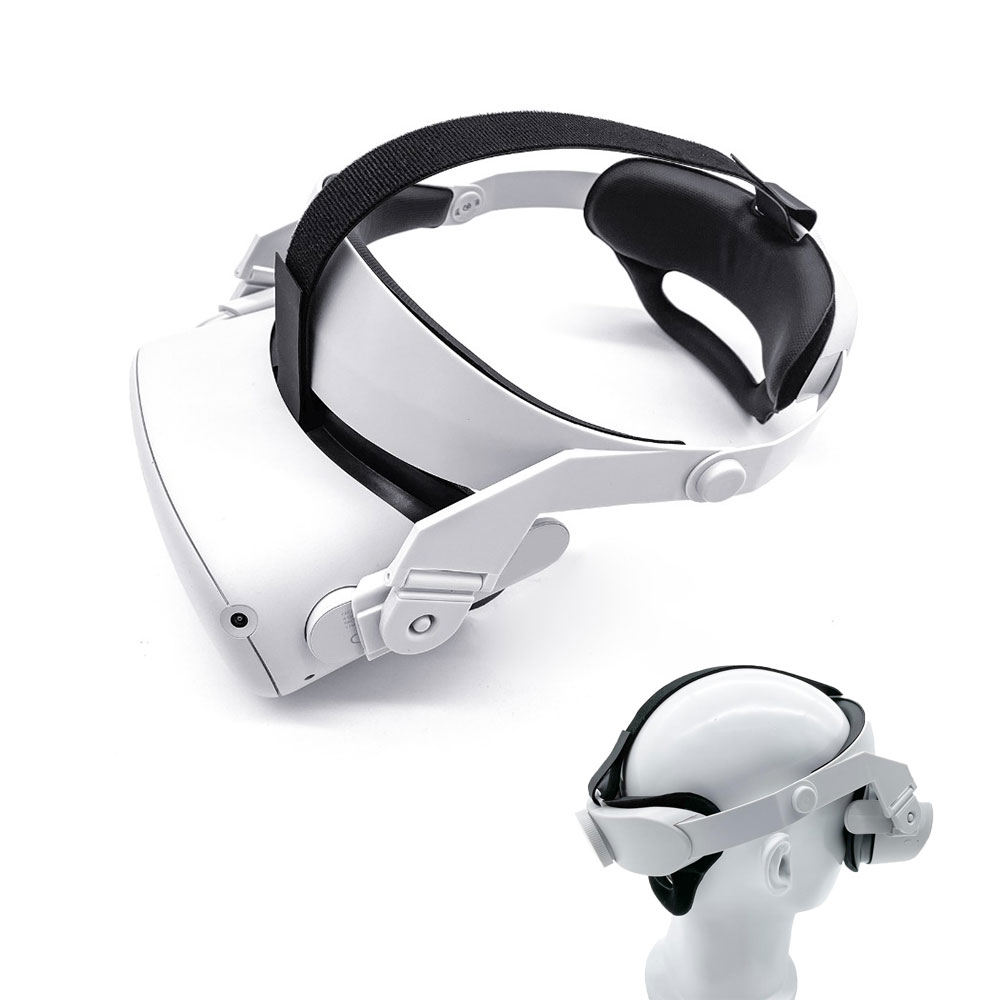 Upgrade Elite Strap for Oculus Quest 2 Halo Strap Adjustable Reduce Head Pressure Comfortable Touch Design Balance Weight