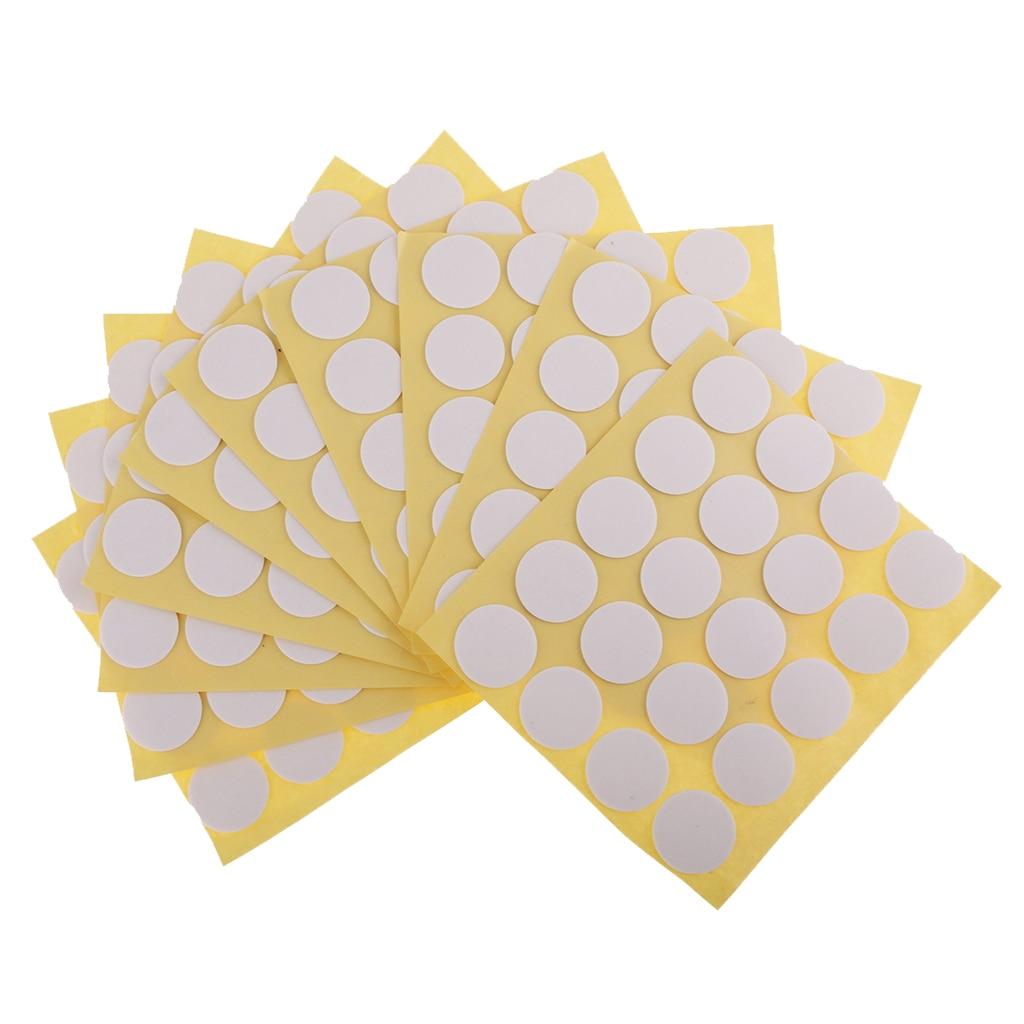 Paquete de 100/200 pegatinas de mecha de vela puntos adhesivos de doble cara para fabricación de velas 20mm