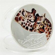 Австралия жираф животных памятная монета признание в любви, предложить матери любовь Мемориал Елизаветы подарок посеребренные монеты
