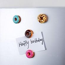 Magnet Refrigerator Donut Doughnut-Fridge Simulation-Food Home-Decor Sweet 4pcs