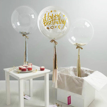 1pc 18/20/24/36 inch Helium  BoBo Balloon Wedding Decor Sticker Baby Shower Birthday Party Transparent Balloons Decorations