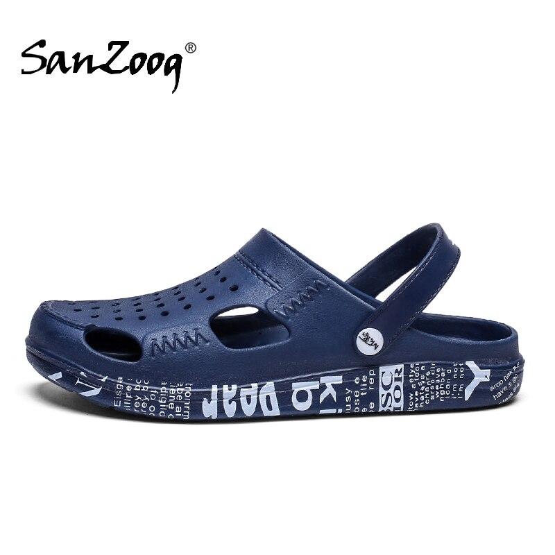 Rubble Mens Beach Sandals Summer Clogs Crocse Men Crox Croks Zuecos Hombre Croc Shoes Garden Cholas Clog Crock Slip On Big Size