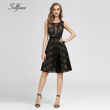 Sexy Black Mini Dress Women A-Line O-Neck Sleeveless Lace Dress Ladies Short Streetwear Elegant Night Club Party Dress Vestido lace insert high neck a line mini dress