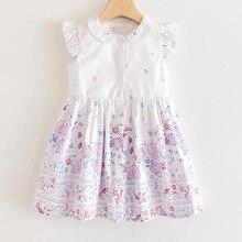 2017 new summer baby clothing set cotton cute pattern vest Girls Flower Dresses 2020 New Children's Summer Wear Kids Girls Sleeveless Floral Vest Pattern Dress Baby Cute Dress Clothing