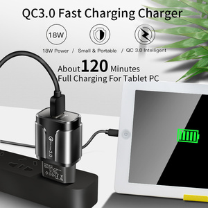 Image 3 - YKZ USB Charger,Mobile phone charger 18W QC3.0 Fast Charging EU US wall charger For iPhone Samsung Xiaomi Huawei Phone Adapter