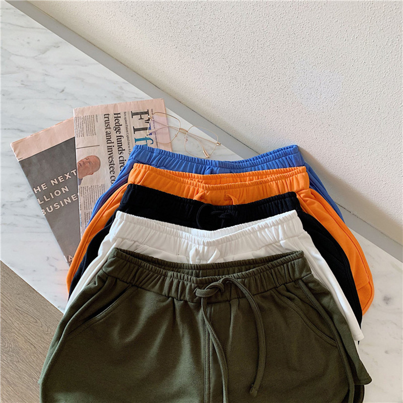 Women Short Casual Lady Loose Solid Soft Leisure Female Workout Belt Skinny Summer Stretch Shorts Drop Shopping