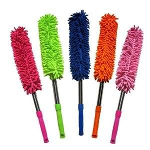 Image 5 - 1 pçs cores aleatórias 57cm extra longo flexível escova de lavagem carro microfibra macarrão chenille liga roda limpeza ferramenta