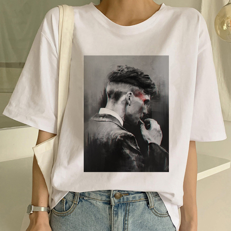 Maycaur Harajuku Peaky Blinder Women Tshirts Funny Short Sleeves T Shirt Women Shirt 90s Ulzzang Female T-shirt Tees Fashion Top