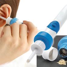 Wygodne elektryczne narzędzie do czyszczenia uszu próżniowe narzędzie do czyszczenia uszu wyciszenie Earpick usuwanie woskowiny miękkie bezpieczne usuwanie woskowiny narzędzie do pielęgnacji uszu tanie tanio CN (pochodzenie) 2 5 cm x 13 cm HLB095 Pielęgnacja uszu
