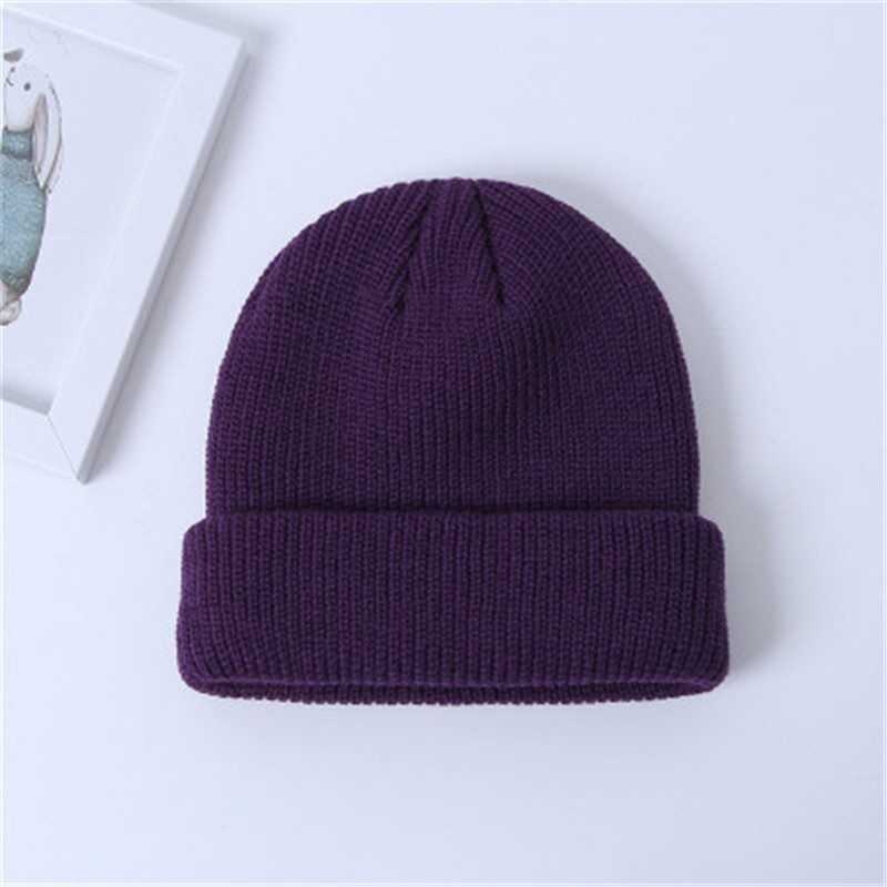 Trendy Apparel Shop Oversized Big Size Plain Ribbed Knit Cuff Long Beanie Hat