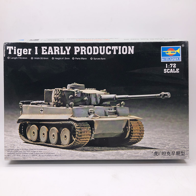 1:72 World War Ii German Tiger 1 Tank Early Type Military Assembly Model Military Vehicle Armoured Chariot 07242.