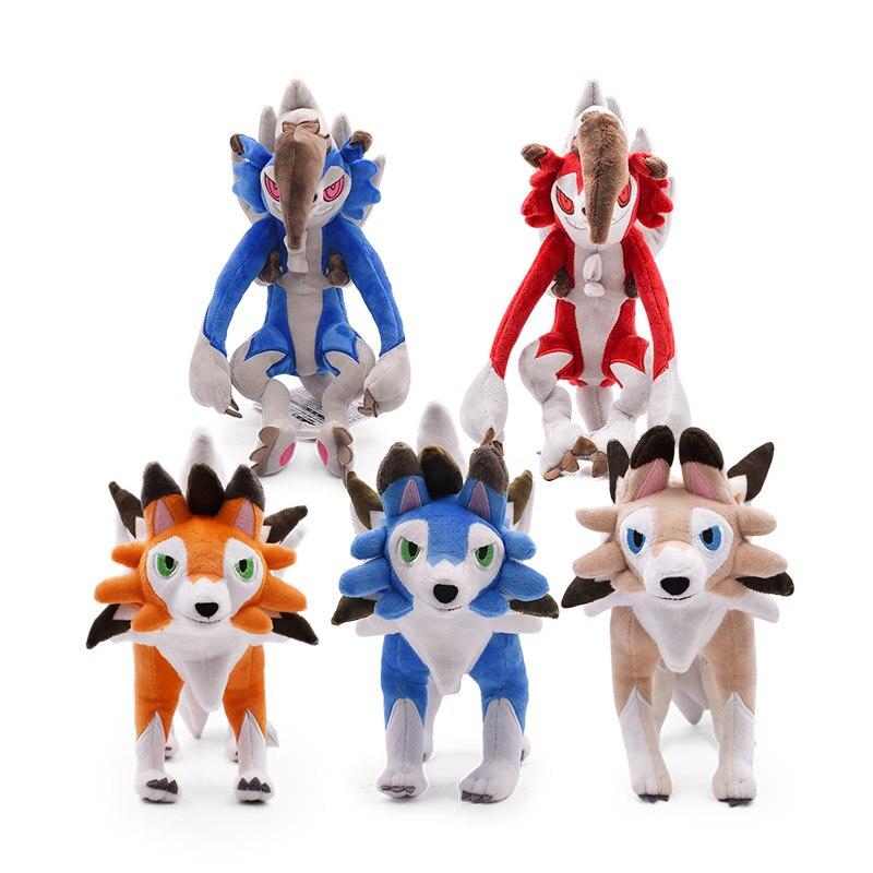 5 Styles Plush Toys Sun/Moon Alola Solgaleo Lunala Lycanroc Dusk Lycanroc Daytime Night Soft Doll Toys Kids Children Gifts(China)