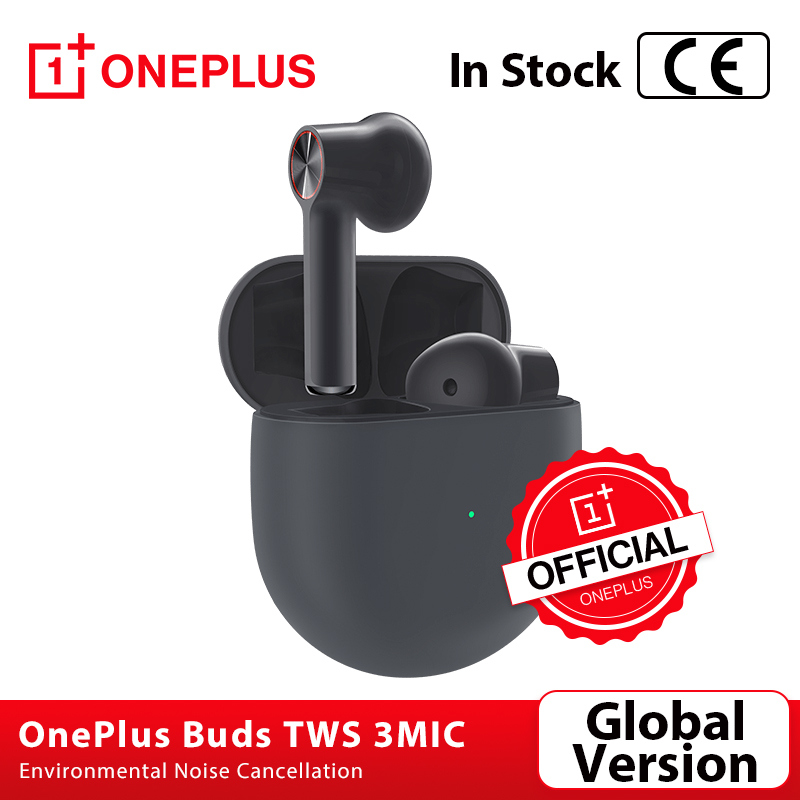 Global Version OnePlus Buds TWS Wireless Bluetooth 5 Earphones 3Mic Environmental Noise Cancellation for Oneplus 7t 8 8Pro Nord