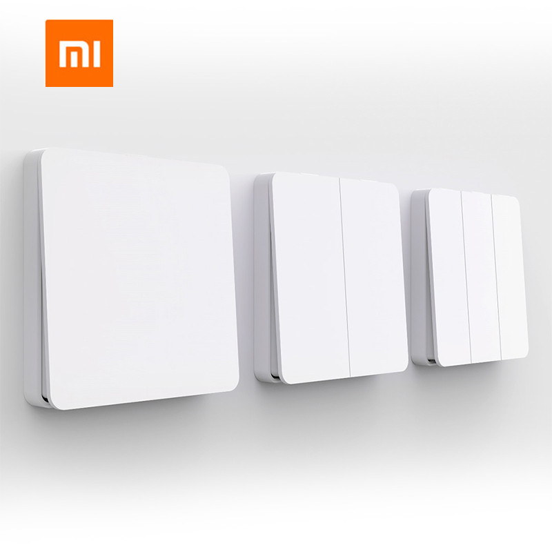 Xiaomi Mijia Smart Switch Wall Switch Single Double Open Dual Control Switch 2 Modes Switch Over Intelligent Lamp Lights Switch