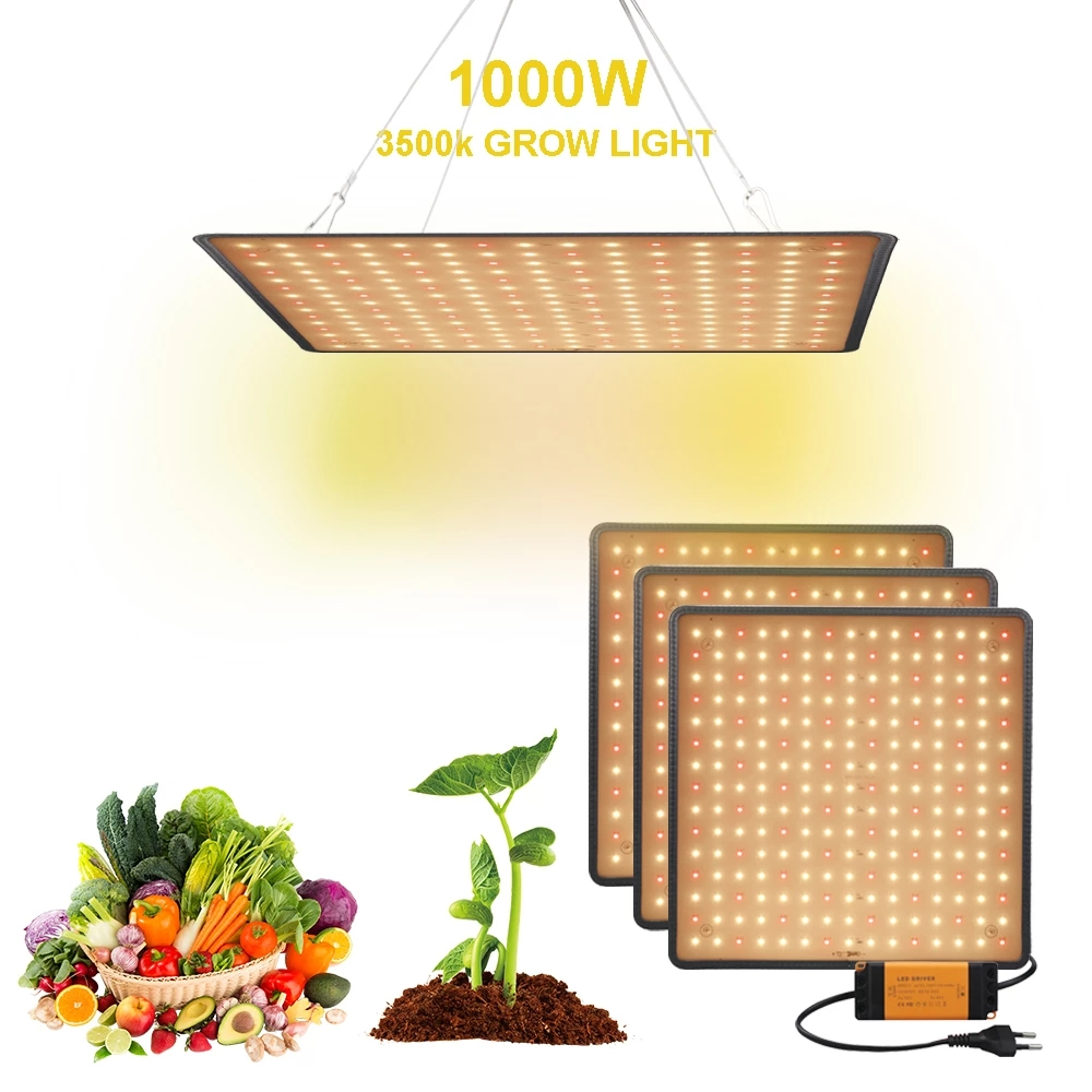 Крытый светодиодный светильник 1000W полными спектрами Фито лампы для растения и цветы теплые белые светодиоды фитолампа плантационных пала...